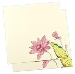 lotus theme card indianweddingstore com