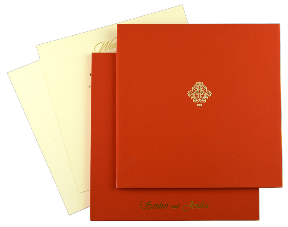 Red Square card | IndianWeddingStore.com
