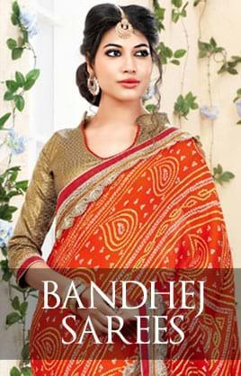 Bandhej Sarees
